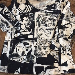 Abstract Faces Novelty T